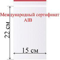 Пакет с замком (зип лок) 15*22 см 100 шт/в пачке, 35,7 мкм.