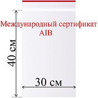 Пакет с замком (зип лок) 30*40 см 100 шт/в пачке, 35,3 мкм.