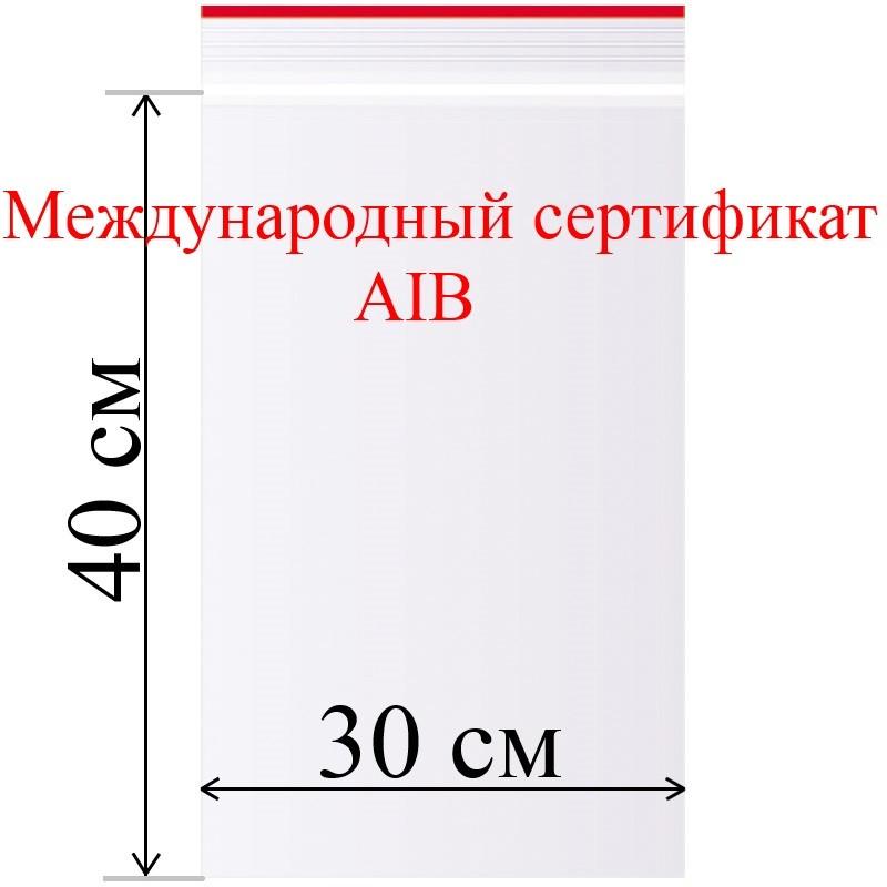 Пакет с замком (зип лок) 30*40 см 100 шт/в пачке, 35,3 мкм. - фото 1