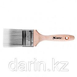 """Кисть плоская Platinum 2.5"""", искусственная щетина, деревянная ручка MTX"""