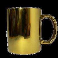 Кружка керамическая Золото зеркальное