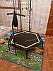 Батут для джампинга с нагрузкой до 150 кг LeeFitness 140 см с ручкой, фото 5