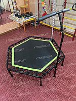 Батут для джампинга с нагрузкой до 150 кг LeeFitness 140 см с ручкой, фото 1