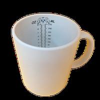 Кружка керамическая белая  Принт с  мерочной шкалой