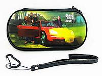 Чехол на молнии с 3D картинкой PSP 1000/2000/3000 3in1 3D picture, GTA 4 на машине, фото 1