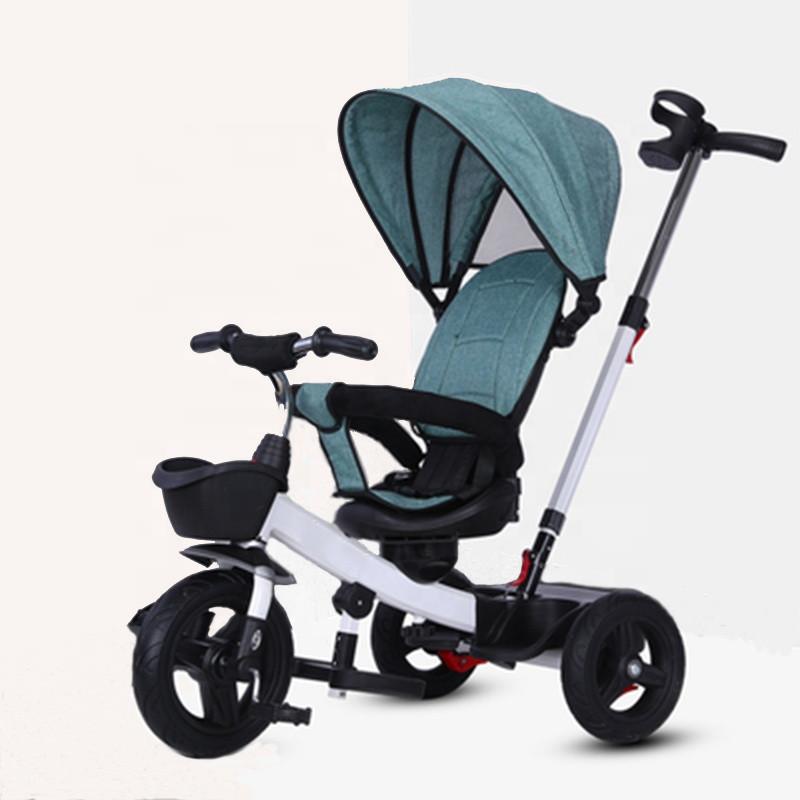 Детский трёхколёсный велосипед-коляска Haolaifu HLF-6018