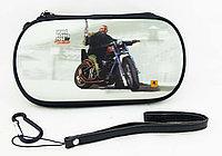 Чехол на молнии с 3D картинкой PSP 1000/2000/3000 3in1 3D picture, GTA 4 на мотоцикле, фото 1