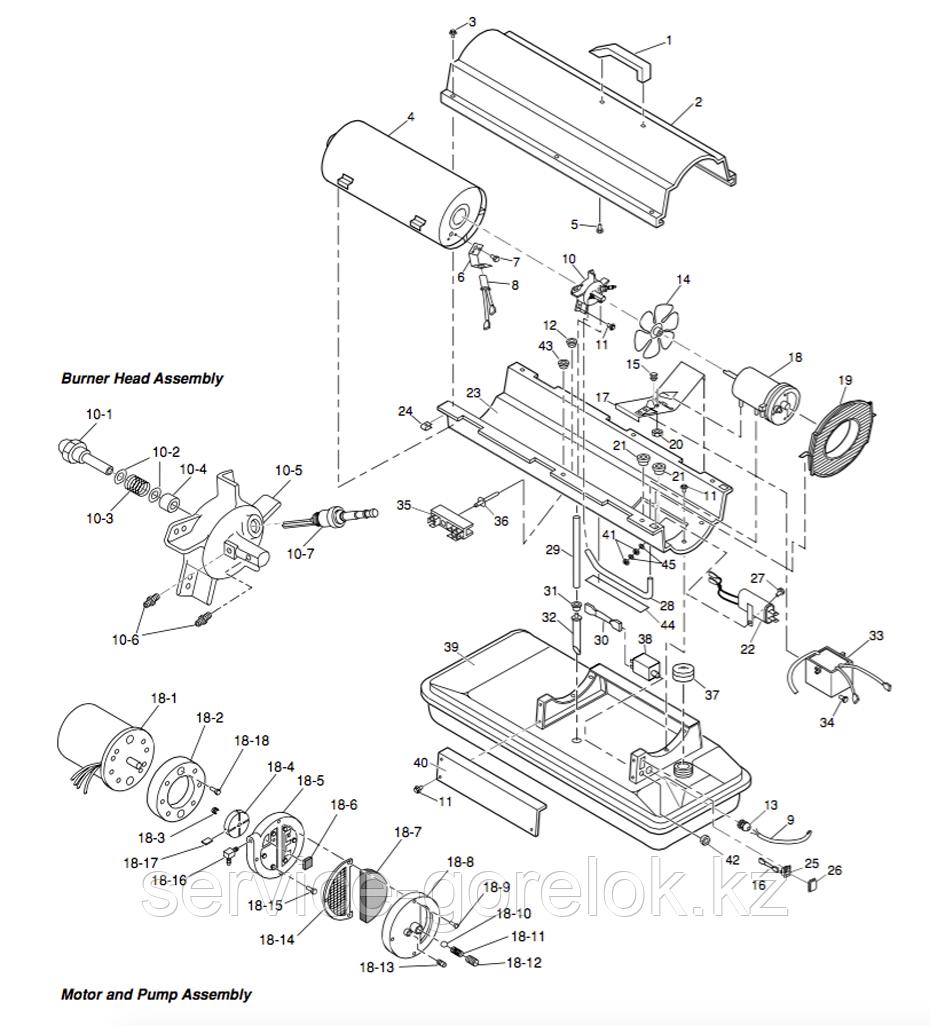 Запасные части к дизельной тепловой пушке MASTER B70CED - купить по низкой цене, доставка по всему Казахстану