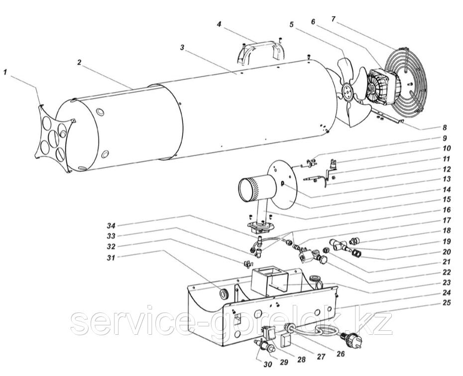 З/Ч к газовой тепловой пушке MASTER BLP30M - купить по низкой цене, доставка по всему Казахстану