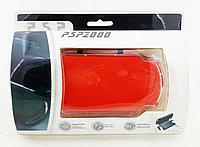Чехол пластиковый Ракушка Sony PSP Slim 2000/3000, красный