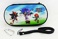 Чехол на молнии с 3D картинкой PSP 1000/2000/3000 3in1 3D picture, Sonic Heroes, фото 1