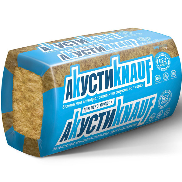 Стекловата Knauf Акустик (16 шт) 12 м2