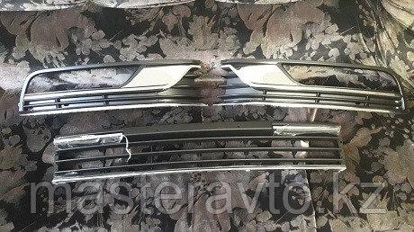 Решетки в бампер к-кт 3 шт VW Passat B7 10-15