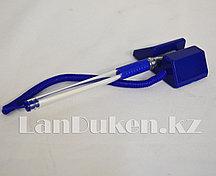 Ручка шариковая на подставке с липучкой и пружиной (стержень синий) синяя