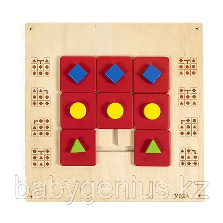 """Настенный модуль """"Подбор формы и цвета"""", панель Монтессори развивающая. Бизиборд, фото 2"""