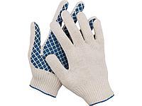 Перчатки трикотажные DEXX, 7 класс, х/б, обливная ладонь, 114001