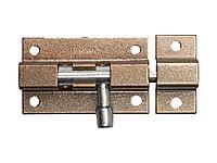Шпингалет для окон и мебели ШП-50 КМЦ, цвет коричневый металлик/цинк, 50мм, 37753-50