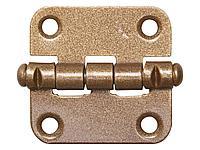 Петля дверная накладная стальная ПН-40, цвет бронзовый металлик, универсальная, 40мм, 37625-40