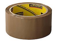 Упаковочная клейкая лента STAYER 1207-50, MASTER, коричневая, толщина 45 мк, 48 мм х 60 м