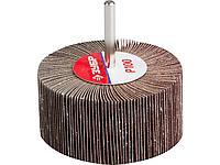 Круг шлифовальный лепестковый ЗУБР 36604-100, МАСТЕР, веерный, на шпильке, тип КЛО, зерно-электрокорунд