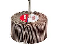 Круг шлифовальный лепестковый ЗУБР 36604-320, МАСТЕР, веерный, на шпильке, тип КЛО, зерно-электрокорунд