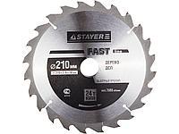 Пильный диск по дереву STAYER 3680-210-30-24, MASTER, FAST-Line, 210 х 30 мм, 24Т