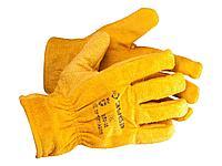 Перчатки ЗУБР МАСТЕР кожаные рабочие, с подкладкой, XL, 1135-XL