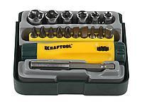 Набор инструментов торцевые головки и биты KRAFTOOL 26143-H18, EXPERT, Cr-V, 18 предметов