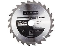 Пильный диск по дереву STAYER 3680-250-32-24, MASTER, FAST-Line, 250 х 32 мм, 24Т