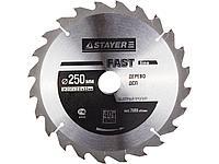 Пильный диск по дереву STAYER 3681-250-32-40, MASTER, OPTI-Line, 250 х 32 мм, 40Т