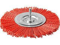 Щетка крацовка дисковая для дрели ЗУБР 35161-125_z02, ПРОФЕССИОНАЛ, нейлоновая проволока с абразивным