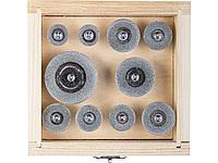 Алмазные мини диски насадки для гравера ЗУБР 33385-H10, ЭКСПЕРТ, круги с алмазным напылением на шпильке,