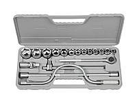 Набор инструментов торцовые головки STAYER 27585-H19, STANDARD, хромированное покрытие, 19 предметов