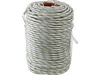 Фал плетёный капроновый СИБИН 50220-10, 24-прядный с капроновым сердечником, диаметр 10 мм, бухта 100 м, 1300