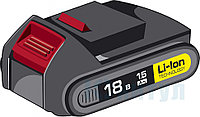 "Аккумуляторная батарея ""М2"" 18 В, Li-Ion, 1.5 Ач, ЗУБР, ( АКБ-18-Ли 15М2 )"