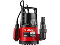 Дренажный насос погружной для чистой воды ЗУБР НПЧ-М1-550, МАСТЕР, М1 (диаметр частиц до 5 мм), 550 Вт,