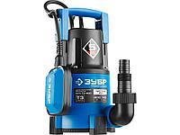 Дренажный насос погружной для чистой воды ЗУБР НПЧ-Т3-400, ПРОФЕССИОНАЛ, Т3 (d пропускаемых частиц до 5мм),