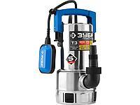Дренажный насос погружной для грязной воды ЗУБР НПГ-Т3-550-С, ПРОФЕССИОНАЛ, Т3 (d частиц до 35 мм), 550 Вт,