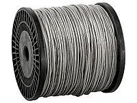 Трос стальной оцинкованный в оплетке ПВХ DIN 3055 ЗУБР 4-304120-04-05, синтетическая сердцевина d=4/5 мм,