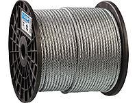 Трос стальной оцинкованный DIN 3055 ЗУБР 4-304110-06, синтетическая сердцевина d=6 мм, L=120 м