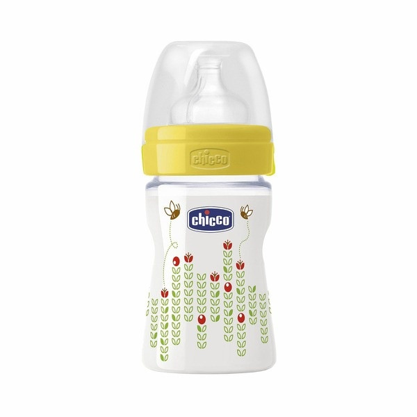 Бутылочка Chicco Wellbeing для кормления Пчелка  силикон 150 ml 0+