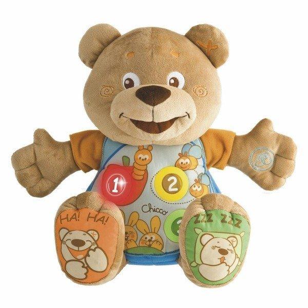 Развивающая игрушка Chicco Говорящий мишка  Teddy рус./англ. 6м+