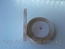 Атласная лента с люрексом.   6 мм. Бежевый..  Creativ 2536