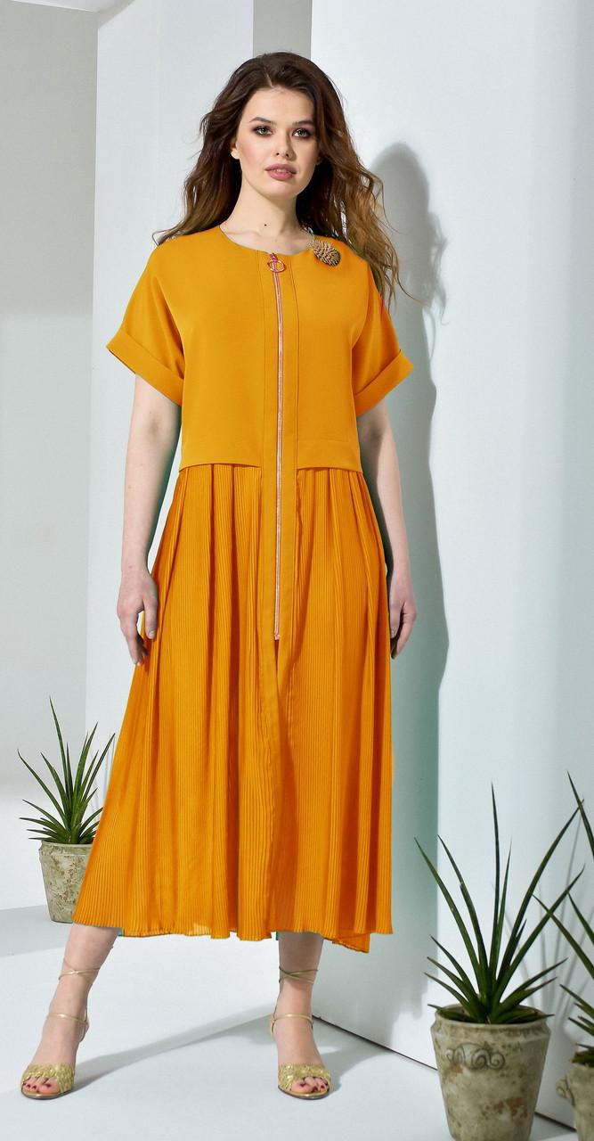 Платье Anna Majewska-132/1, оранжевый, 52