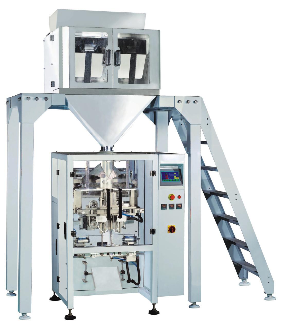 Автоматическая упаковочная линия с весовой дозатором