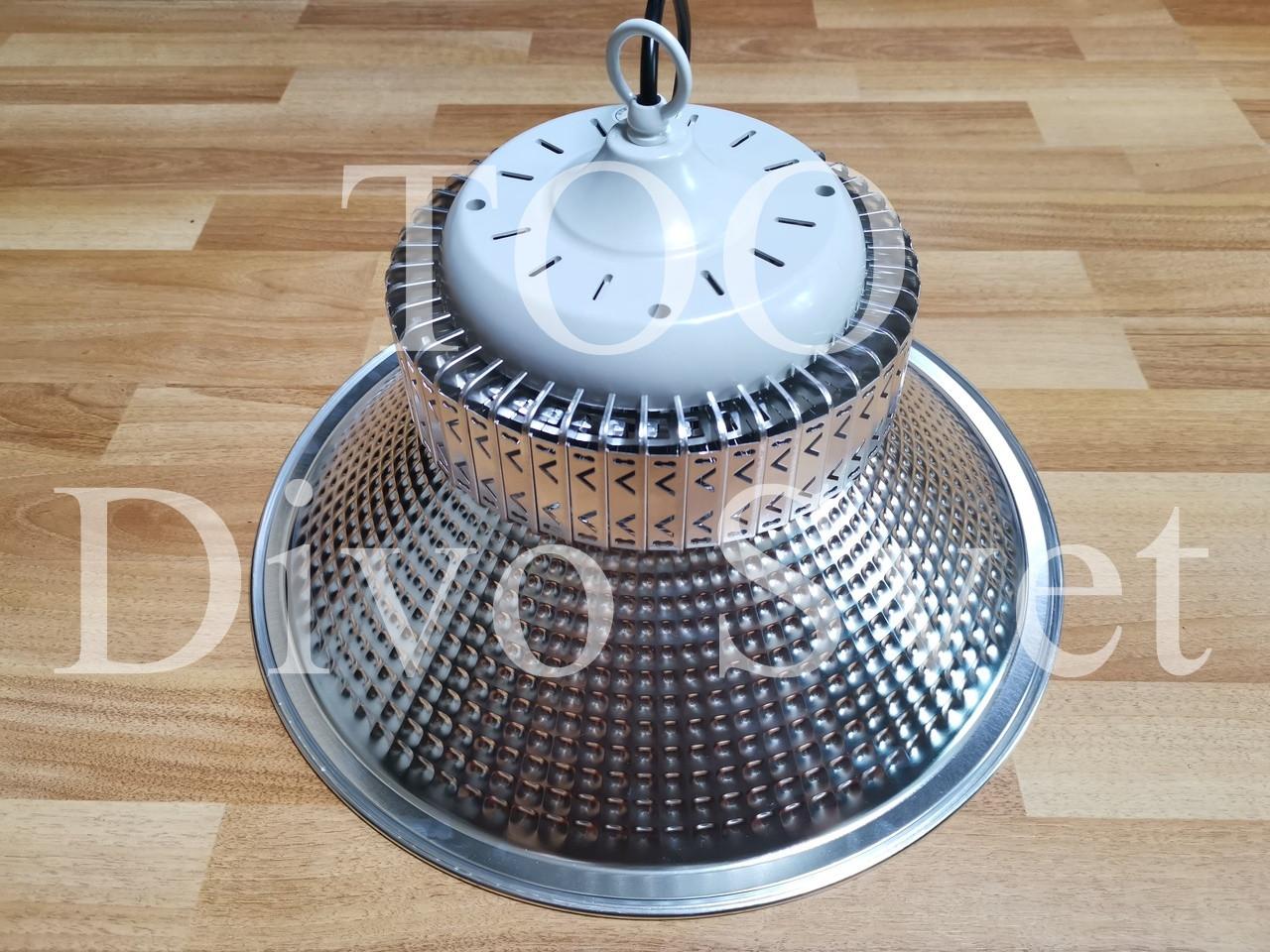 """Светильник LED """"Колокол серебристый"""" подвесной, купольный 100W . Промышленный светильник светодиодный 100W."""