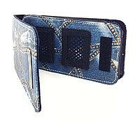 Чехол джинсовый с карабином Black Horns PSP Slim 2000/3000 Jeans Case, фото 1