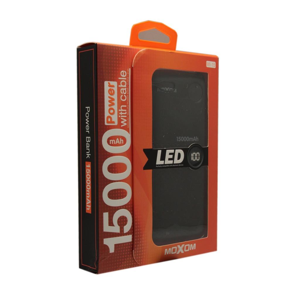 Внешний аккумулятор Power Bank Moxom MI-15 15000 mah