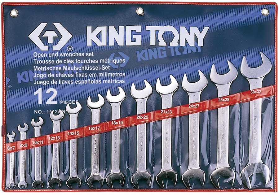 Набор рожковых ключей KING TONY 1112MR (12 предметов)