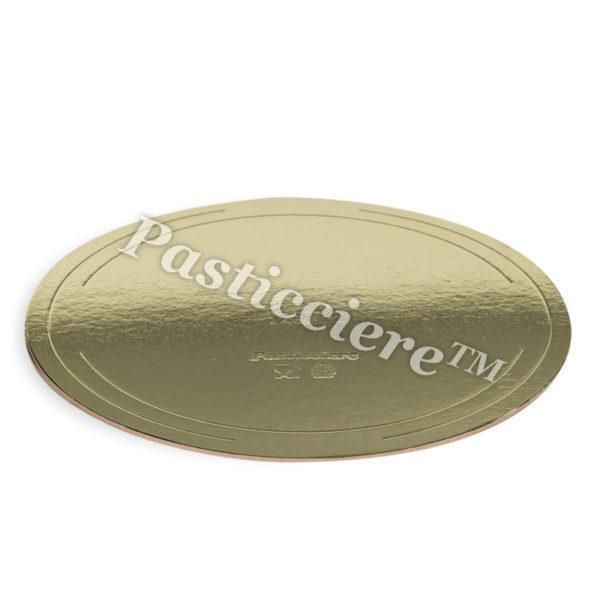 Pasticciere. Подложка усиленная золото/жемчуг D 280 мм ( Толщина 3,2 мм ) (10 шт/упак)